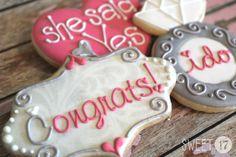 Engagement Sugar Cookies Sweet17Cookies.Etsy.com