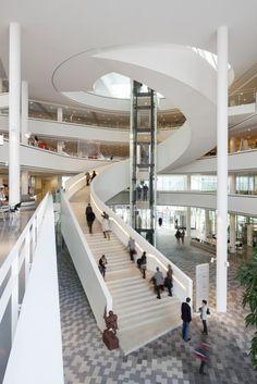 Nieuwegein City Hall and Cultural Center / 3XN Architects - eVolo | Architecture Magazine