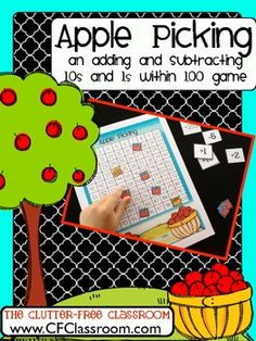 This game provides a fun and engaging way for children to practice adding and subtracting 10s and 1s within 100 and helps develop fluency with using a hundred chart as a mathematical tool. It also strengthens:  place value sense  ability to read and write equations  mental math  addition and subtraction strategies    2.OA.A.1    2.NBT.A1   2.NBT.B5   2.NBT.B.9