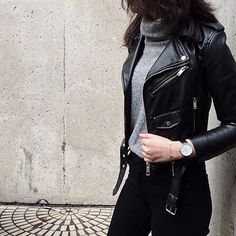 VISIT FOR MORE Nice 41 Trending Black Leather Women Jacket Outfits Ideas Suitable For Fall.c The post Nice 41 Trending Black Leather Women Jacket Outfits Ideas Suitable For Fall. Mor appeared first on Outfits. Mode Outfits, Casual Outfits, Fashion Outfits, Womens Fashion, Black Outfits, Winter Outfits, Edgy Fall Outfits, Workwear Fashion, Fashion Clothes
