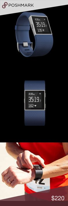 Fitbit Surge - BRAND NEW! Large & Blue! Brand new Fitbit Surge! My Fitbit had a tear in the band so they sent a free replacement, however I am looking to sell this new one so I can purchase the Fitbit Blaze. Color: Blue  Size: Large  More info: https://www.fitbit.com/shop/surge  The replacement is a brand new Fitbit Surge but doesn't come with a charger or the owners manual. Package unopened!  Originally $249.95 - asking for $220/OBO. No trades. Fitbit Accessories Watches