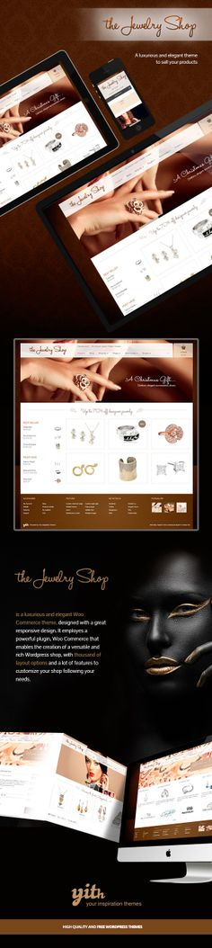 THE JEWELRY SHOP – A LUXURIOUS AND ELEGANT THEME TO SEL by Your Inspiration , via Behance