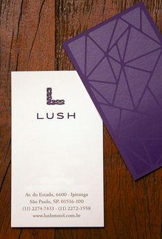 Cartão de visitas do Lush.  Lush Business Cards