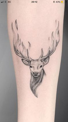 Arm Tattoo, Stag Tattoo, Samoan Tattoo, Polynesian Tattoos, Tattoo Ink, Raven Tattoo, Tattoo Tree, Deer Skull Tattoos, Wolf Tattoos