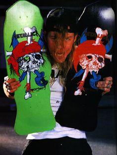 #Metallica #Pushead #skateboard #JamesHetfield