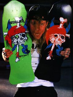 #Metallica #Pushead #skateboard #JamesHetfield