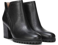 Franco Sarto Maysen Bootie Black Leather