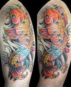 Resultado de imagen para koi tattoo arm