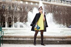 Meet me in Paree - Nikita with our Axara Black coat of the Fall-Winter 14/15 collection.