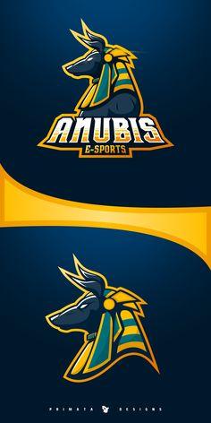 Anubis e-Sport Logo Typography Logo, Art Logo, Fantasy Logo, Video Game Logos, E Sports, Game Logo Design, Esports Logo, Mascot Design, Anubis