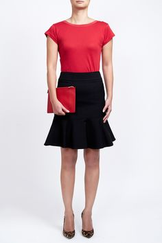 Red 100% Supima cotton reversible T-shirt