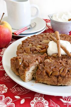 Maple Apple Upside Down Cake Recipe - Mother's Day, Valentine's Day