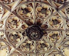 Carvings on the Anne Boleyn Gate at Hampton Court.