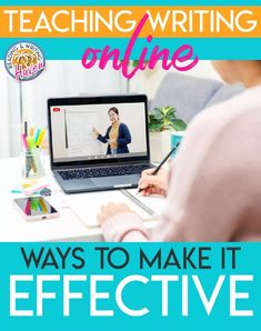Ways to make teaching writing online more effective #HighSchoolELA #MiddleSchoolELA #TeachingWriting #VirtualClassroom