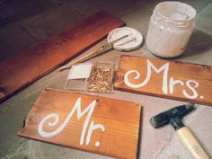 Mrs and Mr - Wedding COUNTRY STYLE - HAND MADE by ArtEcò Creazioni di Annalisa Benedetti #artecocreazioni #annalisabenedetti #style #country #wedding #handmade #madeinitaly #painting