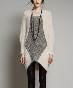 Look at this #zulilyfind! Apricot Color Block Hi-Low Sweater - Women #zulilyfinds