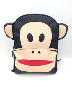 This backpack isn't monkeying around! Made from durable, lightweight materials, it totes belongings with whimsy and style.