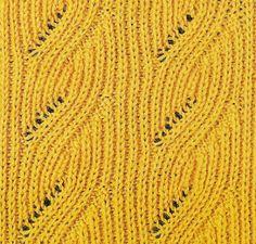 Коллекция схем патентных резинок спицами. Часть 1