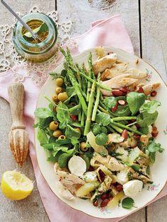 Chicken, asparagus and artichoke heart salad