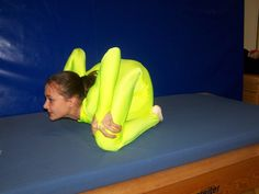 """The most extreme backbend in the world's history! Trained by her mother Marina Ruppel and contortion expert Gerd Rasquin (""""Show Sternchen"""" school, Hamburg, Germany)."""