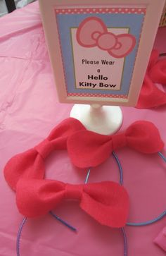 Gender reveal baby shower.  Guests wear pink bows if they think its a girl and blue bow ties if they think its a boy b