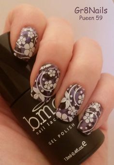 Nail stamping with Pueen 59 from their buffet set