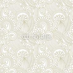Vector: vintage floral seamless pattern