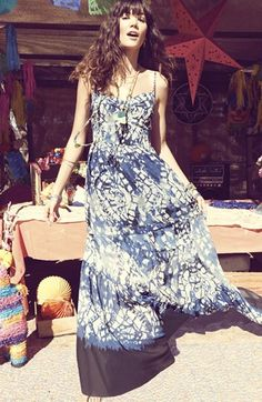 Betsey Johnson Print Maxi Dress