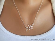 Tiny Branch Necklace in Silver  Little Branch by morganprather, $25.00