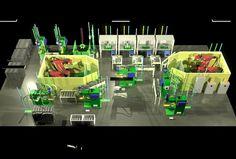 Welding factory line, spot welding and welding robot 3ds max