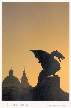 Ljubljana - The Dragon Bridge- I can imagine there being multiple statues like this at the Academy