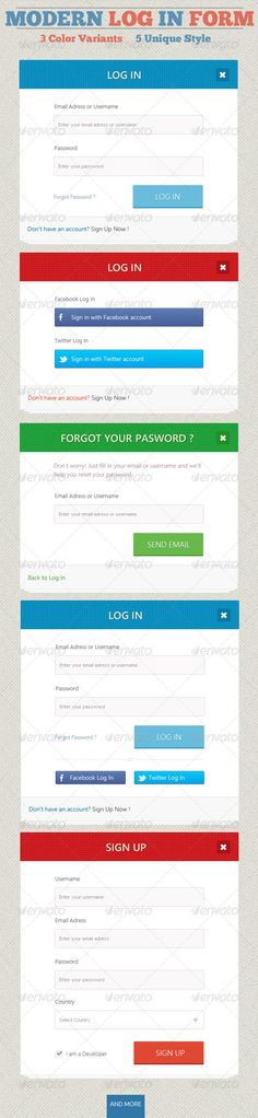 Modern Log In #Form - Forms #Web #Elements Download here: https://graphicriver.net/item/modern-log-in-form/4733352?ref=alena994