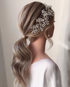 129 gorgeous wedding hairstyles for the elegant bride 20 Ponytail Hairstyles, Bride Hairstyles, Cool Hairstyles, Formal Hairstyles, Weave Hairstyles, Instagram Hairstyles, Gorgeous Hairstyles, Straight Hairstyles, Medium Hair Styles