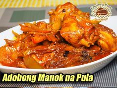 Filipino Dishes, Filipino Recipes, Chicken Adobo, Chicken Wings, Spicy Potato Salad Recipe, Pinoy Food, Pula, Comfort Foods, Food Dishes