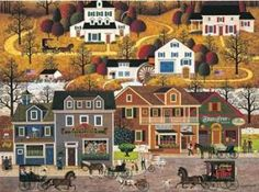 """Charles Wysocki """"Hawkriver Hollow"""" Puzzles like this are interesting to me.  Usually between $10-$12"""
