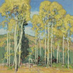 Towering Aspens by Ernest Martin Hennings from Tacoma Art Museum