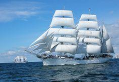 "STS ""Statsraad Lehmkuhl"", home port of Bergen, Norway. (Tall Ships Races 2015, Ålesund)"