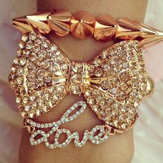 Love & a bow, no spikes or studs though because let's face it, I would definately hurt myself with them!