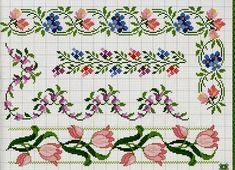 ru / Фото - A punto croce Speciale bordure - Los-ku-tik Cross Stitch Boarders, Cross Stitch Flowers, Cross Stitch Charts, Cross Stitch Designs, Cross Stitching, Cross Stitch Embroidery, Embroidery Patterns, Hand Embroidery, Cross Stitch Patterns