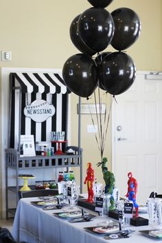 This Ashleigh Nicole Events styled Iron Man + Hulk + Spiderman Superhero Birthday Party at Kara's Party Ideas is filled with killer party inspiration! Hulk Birthday Parties, Birthday Party Tables, Superhero Birthday Party, 5th Birthday, Spiderman Birthday Ideas, Birthday Games, Birthday Decorations, Birthday Wishes, Birthday Invitations