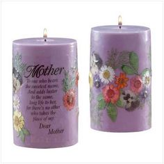 "$9.82-$149.95 Mother Mom Candle Poem Chamomile Tea Scent Dried Flower - This chamomile tea scented candle is embedded with dried flowers and a lovely poem for Mom. 60 hours burning time. 60% palm oil, 40% paraffin wax. Lead-free wick. 3 1/4"" diameter x 5 1/4"" high. http://www.amazon.com/dp/B0016KWQ6E/?tag=pin2wine-20"