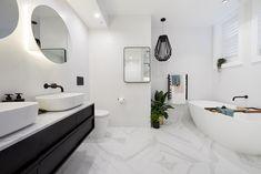 The Block 2018 Gatwick: Main Bathroom Reveal Reece Bathroom, Small Bathroom, Bathroom Ideas, Master Bathroom, Boy Bathroom, Relaxing Bathroom, Bathroom Plumbing, Bathroom Basin, Bathroom Layout