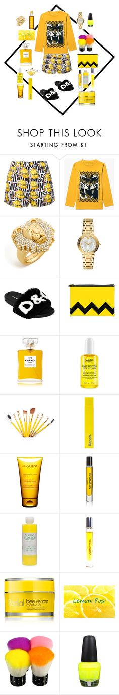 """""""Sin título #1231"""" by na-ty-1 ❤ liked on Polyvore featuring Moschino, BaubleBar, Versace, Dolce&Gabbana, Chanel, Kiehl's, Bench, Clarins, D.S. & DURGA and Mario Badescu Skin Care"""