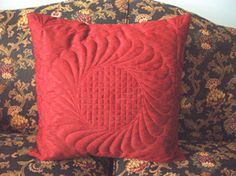 Feathered circle with basket weave inner