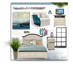 """""""Home Away From Home: Dorm Decor"""" by eula-eldridge-tolliver ❤ liked on Polyvore featuring interior, interiors, interior design, home, home decor, interior decorating, Baxton Studio, Berkshire and InterDesign"""