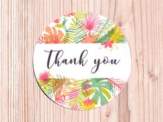 """Sticker Set """"Thank you"""" Tropical 