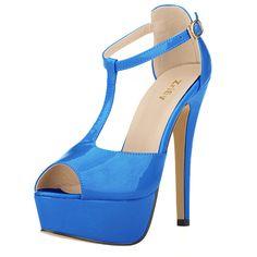 安い女性のプラットフォームハイヒールののぞき見つま先のアンクルストラップサンダルセクシーなハイヒール女性ポンプt  ストラップのパーティー817 19pa結婚式の靴、購入品質女性の パンプス、直接中国のサプライヤーから:Free shipping women fashion sexy personality hollow rivets stitching fine with high-heeled shoes Wedding Banquet 302-5PA