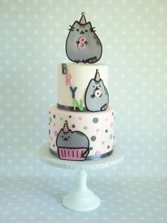 Pusheen Birthday, Birthday Cake For Cat, Pretty Cakes, Cute Cakes, Zoe Cake, Pusheen Cakes, Animal Cakes, Cute Desserts, Cat Party
