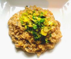 Healthy body. Healthy mind. Healthy veggie.: Mushroom Risotto with Sprouts and Pine nuts