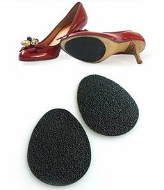 Shoe Sole Self Adhesive Grip Pad & Non-Slip Pads 3 Pairs Heels Boots Slippery | eBay JUST WHAT I NEED for some slippery shoes that I have!!!